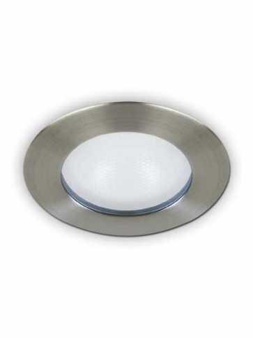 evolution led a2450s recessed light par20 satin nickel