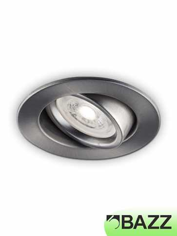 Bazz mini series 7w led recessed light brushed chrome 313lab bazz mini series 7w led recessed light brushed chrome 313lab aloadofball Image collections