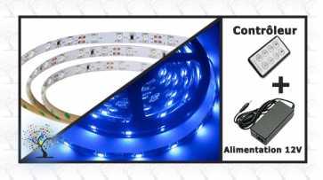 Ensemble - Ruban lumineux LED bleu (5m) -1