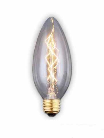 canarm c35 40w vintage bulb warm white b-c35-7c