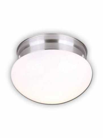 canarm flush mount 1 light brushed nickel fixture ifm137bn