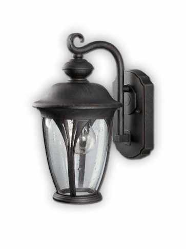 canarm outdoor 1 light burnished bronze wall light iol10294