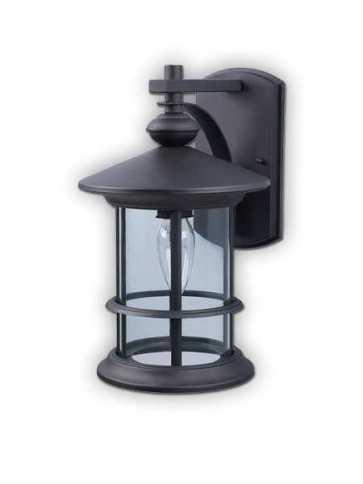 canarm treehouse 1 light black wall light iol124bk