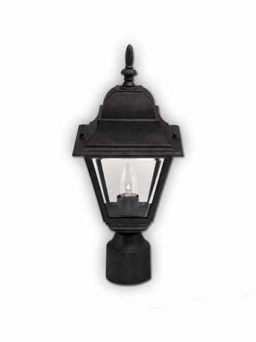 canarm outdoor 1 light black post light iol1312