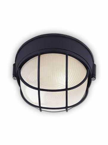 Plafonnier Canarm noir 1 lumière IOL17 BK