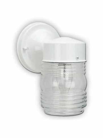 Canarm Outdoor 1 Light White Wall Light IOL20 WH (fixturewshade)