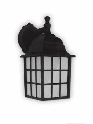 Canarm Outdoor 1 Light Black Wall Light IOL25 BK (fixturewshade)