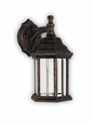 Canarm Outdoor 1 Light Antique Black Gold Wall Light IOL4 ABG (fixturewshade)