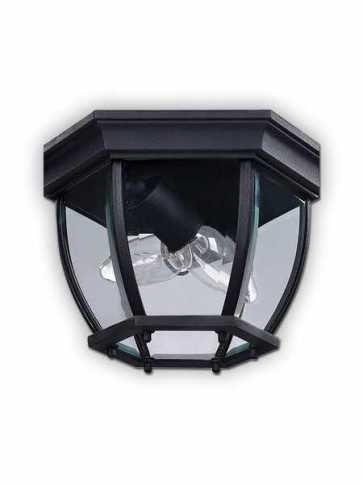 canarm outdoor ceiling light black finish model 8 iol60bk