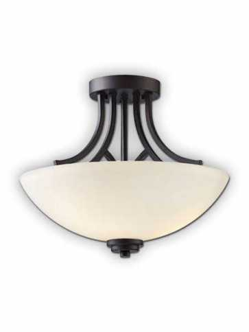 Canarm Somerset 3 Light Oil Rubbed Bronze Semi-Flush ISF421A03ORB (fixturewshade