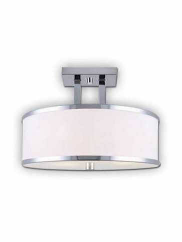 Canarm Amelia 3 Light Chrome Semi-Flush ISF511A03CH (fixturewshade)