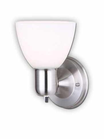 Canarm 1 Light Brushed Nickel Wall Light IWF084BN (fixturewshade)