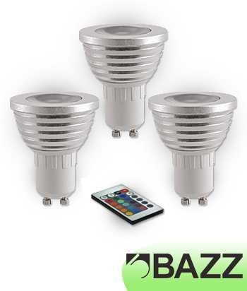 Bazz GU10 LED 3W RGB (3-Pack) GU10RGB3