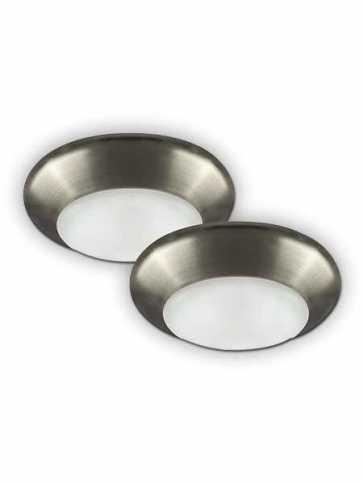 Canarm 4 LED Disk Flush Mount 10W Brushed Nickel LEDSM4DLBNC2 (x2 Pk)