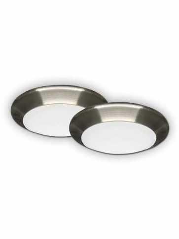Canarm 6 LED Disk Flush mount 15W Brushed Nickel LEDSM6DLBNC2 (x2 Pk)