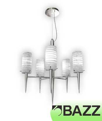Bazz Incizio 5–Light Chrome Chandelier LU3319WH