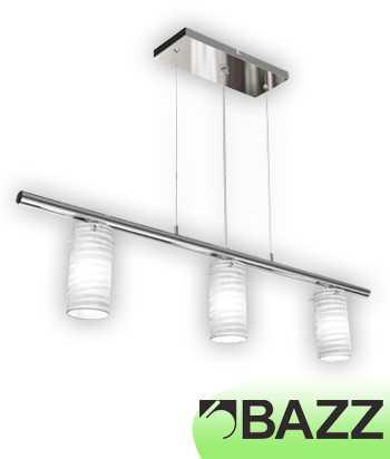 Bazz Incizio 3–Light Chrome Suspended Fixture LU3336WH