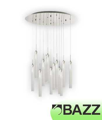 Bazz Lume Chrome Suspended Fixture Model 3 LU8013TU