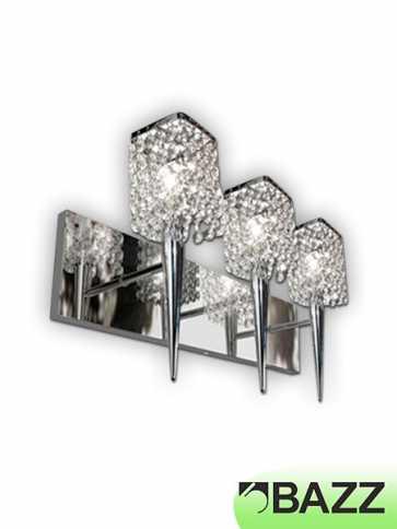 bazz glam 3-light chrome wall light model 2 m3023dc