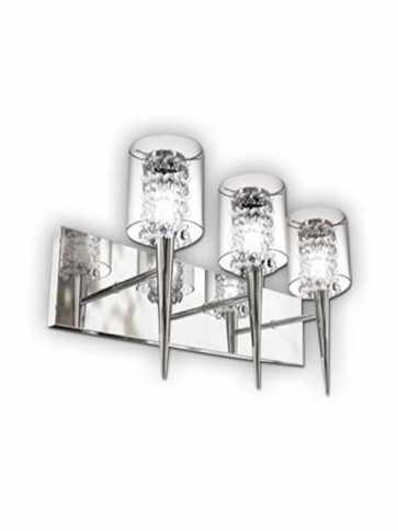 bazz glam 3–light chrome wall light model 4 m3823cb