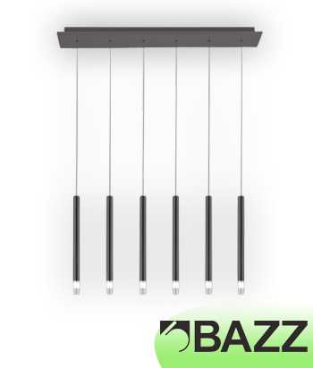 Bazz Lume Dark Grey Suspended Fixture Model 9 P14117CH