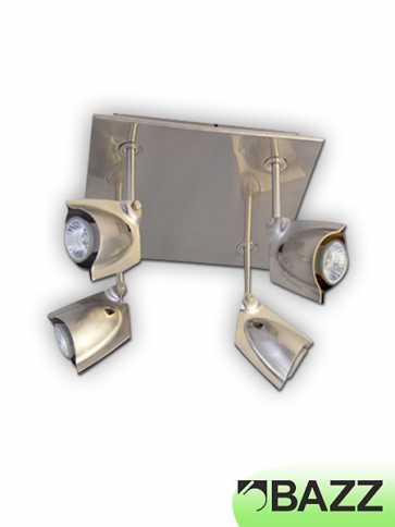 bazz accent 4-light chrome multidirectionnal spots fixture pr4004ch