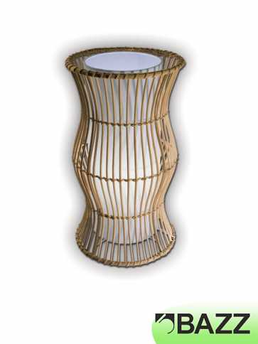 bazz vibe natural wood table lamp model 6 t8063