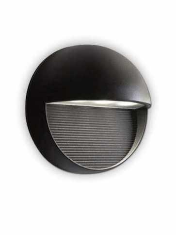 bazz exil 1–light black outdoor wall light w14777bk