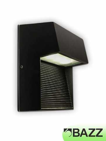 bazz exil 1–light black outdoor wall light model 2 w14780b