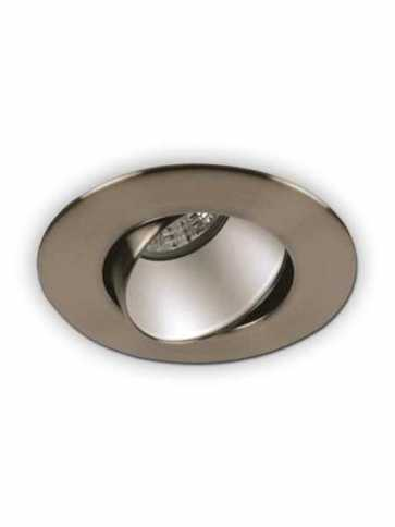 priori x3505 led recessed light gu10 satin nickel ic