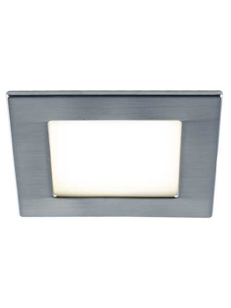 bazz ledslim low profile 11w led square recessed light brushed