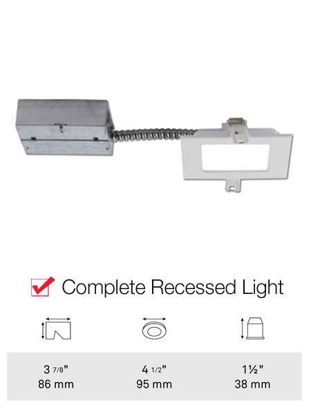 Bazz Ledslim Low Profile 11w Led Square Recessed Light