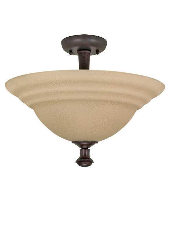 Nuvo Lighting Mericana 60-103 2-Light Old Bronze Ceiling Flush ...