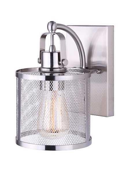 Canarm Ivl626A01Bn Beckett 1-Light 100W Brushed Nickel Vanity Light ...