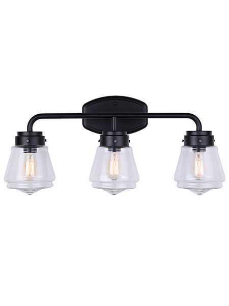 canarm ivl682a03bk 3 lights matte black vanity light bestledz com