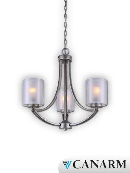 canarm bay historic gold 3 light chain chandelier ich575a03hg. Black Bedroom Furniture Sets. Home Design Ideas