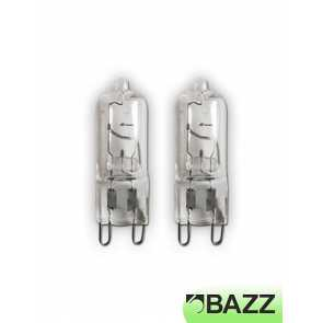 bazz 2 pack g9 halogen 40w bulb g9-2