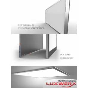 Luxwerx LUXP154ND0606 54W 2' x 2' Slim LED Ceiling Panel High Brightness